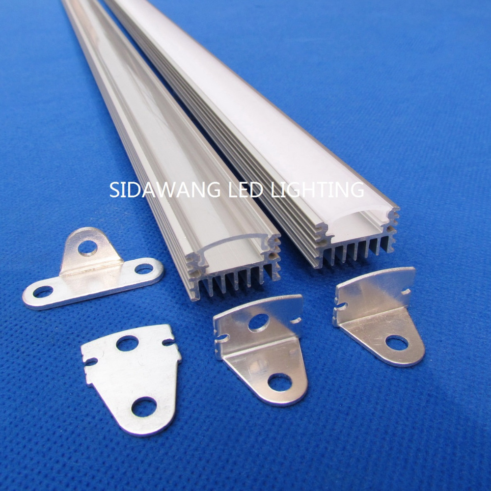 10sets per pack 1m each Led aluminum profile with heatsink for 12mm PCB 5050 5630 3528