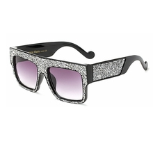 2017 Fashion sunglasses women Brand Designer Square Men Sun glasses Luxury Rhinestone Sunglasses Big Size Cool Eyewear UV400