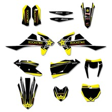 Rockstar Graphics Decals Stickers Custom Number For KTM 125 250 300 350 450 EXC EXCF XCW XC XCF 2017 2018 2019 SX SXF 2016-2018 motorcycle graphics stickers decals for ktm sxf mxc xc sx exc 125 200 250 300 350 400 450 525 2005 2006 2007