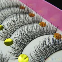 10 Pairs doğal makyaj güzellik yanlış Eyelashes uzatma uzun kalın çapraz göz Lashes kirpik yapay kirpik uygulama