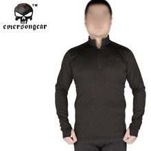 Emerson Zip Version Breathable Warm Underwear Tactical Thermal Underwear Men's Technology Surface Warm Elastic Force Shirt