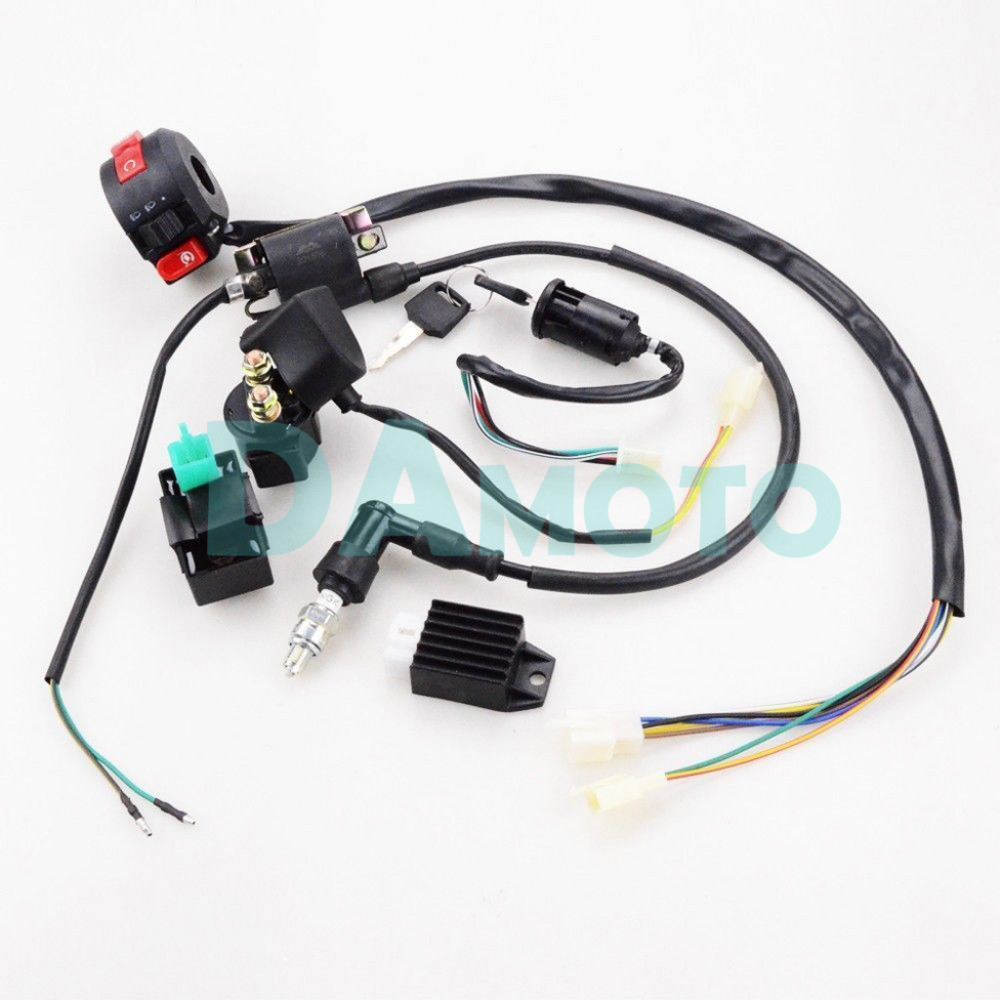 small resolution of full electrics wiring harness cdi coil 110cc 125cc atv quad bike buggy gokart in atv parts accessories from automobiles motorcycles on aliexpress com
