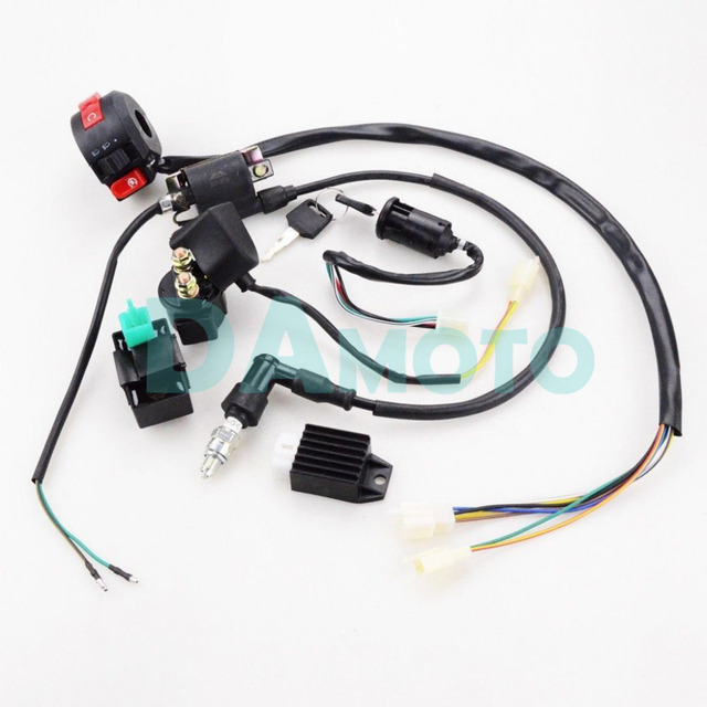 full electrics wiring harness cdi coil 110cc 125cc atv quad bike rh aliexpress com 125 atv wiring diagram 125cc taotao atv wiring diagram