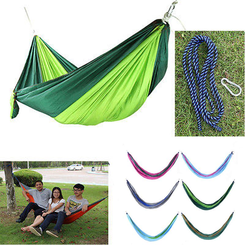 Camping & Hiking Camp Sleeping Gear Humble High Strength Parachute Nylon Fabric Camping Single Parachute Hammock With Strong Rope For Camping Hiking Travel