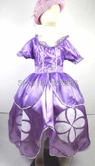 Fantasia De Disfraces Princess Disfraz Vestido Princesa Sofia Sophia Costume Dress Girls Menina Infantil Princesinha Sofia