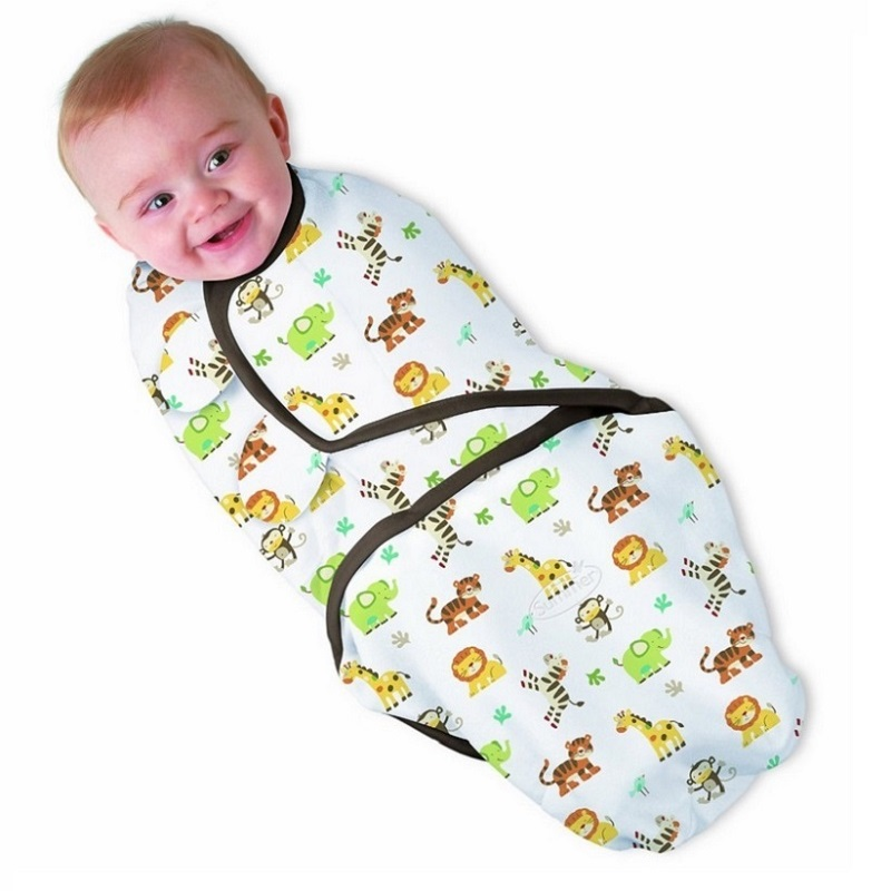 100% Cotton Baby Swaddle Wrap Blanket Newborn Spedbarn Baby Envelope Sovepose Sovepose Mantas Para Bebe KF040S