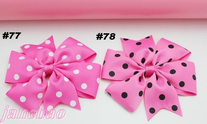 free shipping 50pcs 4.5inch single layer pinwheel hair bows chevron ribbon bows layer hair bows clips