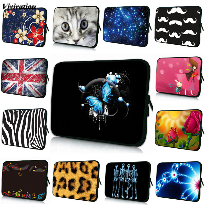 Viviration Soft Computer Cover Women Tablet Bag 7 12 13 15 14 10 17 15.6 13.3 8 Inch Neoprene Notebook Case For Acer Dell Lenovo