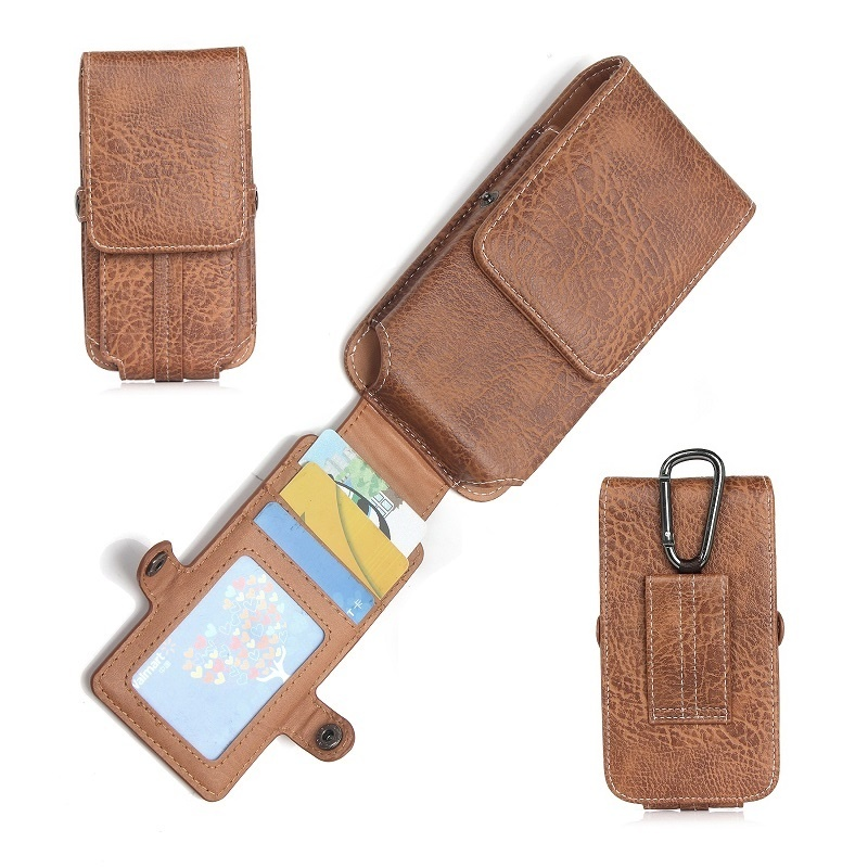 Vertical Belt Clip Case Waist Bag for Samsung S9 Plus Magnetic Pouch Leather Cover for Xiaomi Redmi 4x 5x note 5 plus S2 MI 8 A2