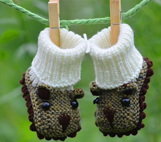 Tricô de lã bebê criança urso dos desenhos animados sapatos de bebê masculino bebê sapatos cuna para bebe varones chaussures homme