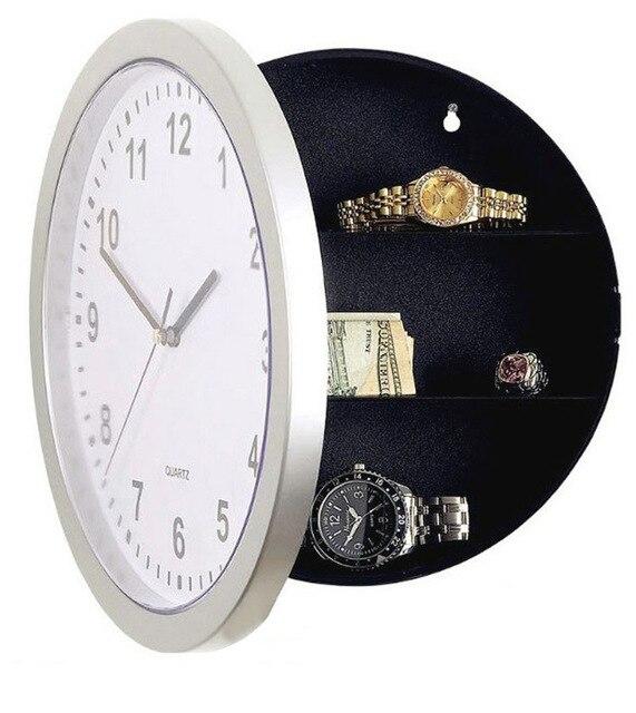 New Hidden Secret Stash Safe Box Creative Wall Clock Safe Money Container Mechanical Storage Box Plastic Jewelry Money