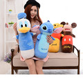 60cm Anime Duck minnie Stitch barreled cylindrical pillow plush toys