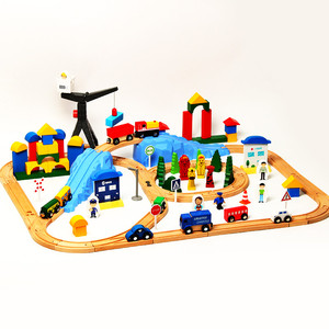 123Pcs Building Blocks Track R