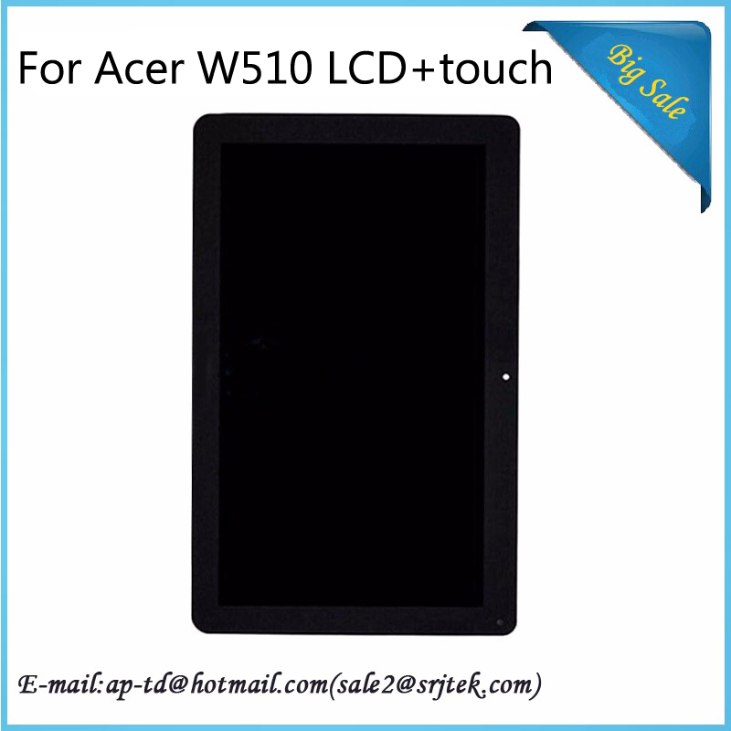 Original 10.1 For Acer W510 LCD Display+Touch Screen Digitizer Glass Sensor Full Assembly Tablet pc Module Panel 100% Tested
