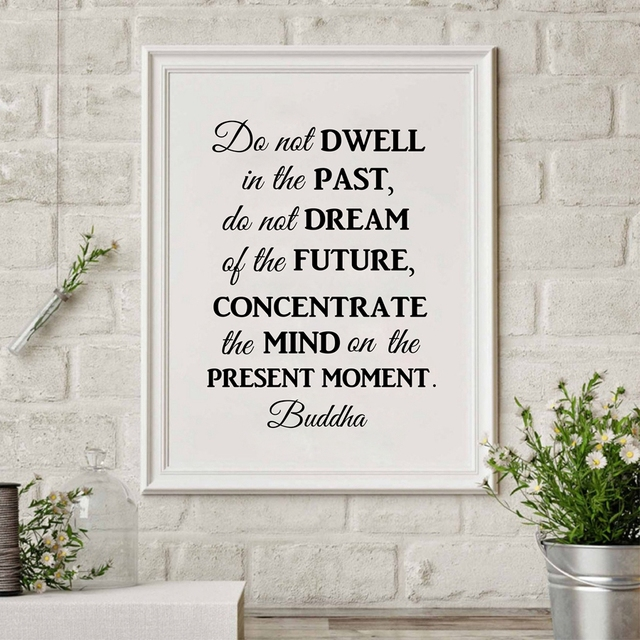 Buddha Philosophy Quote Wall Art Canvas Print Poster Do Not Dwell In Past Prints Painting Home