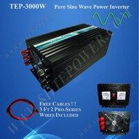 Чистая синусоида решетки DC 12 В 24 В к AC 110 В 220 В 230 В солнечный инвертор 3000 Вт 220 В