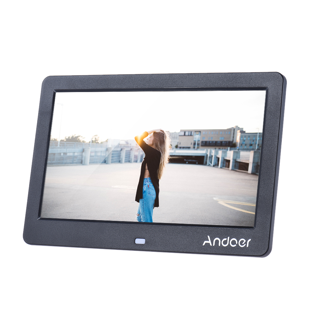 """10/""""inch HD LED Digital Photo Picture Frame Clock Movie MP4 Player Remote Control"""
