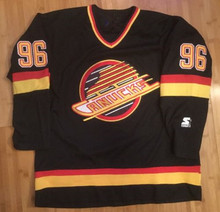 96 Pavel Bure Starter Vancouver Canucks Men s Hockey Jersey Embroidery  Stitched Customize any number and 4a8bebe53
