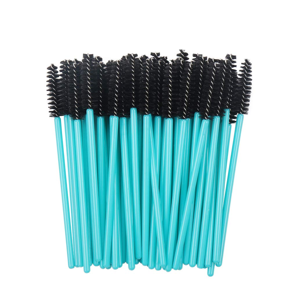 Disposable Mascara Wands Blue Handle Black Head Lashes Brushes 1000pcs/lot Nylon Makeup Brushes Eyelash Extension Tools