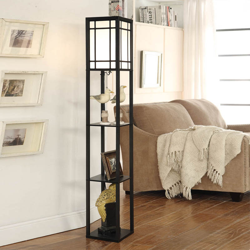 Apartment Living For The Modern Minimalist: Wooden Floor Lamp Modern Minimalist Living Room Light 3