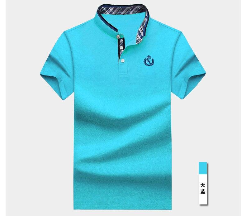 Camisa polo masculina de algodão, camiseta casual