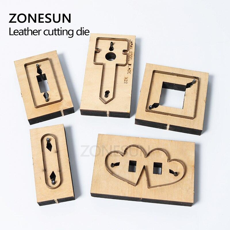 ZONESUN bricolage écouteur cordon gardien en cuir cordon organisateur Earbud titulaire coupe Die pour Machine de découpe artisanat Cutter - 3