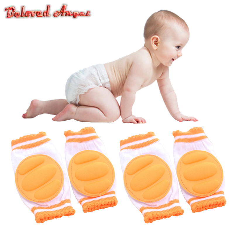 1 Pair Infant Toddler Knee Pads Anti Slip Crawling Safety Harnesses Leashes Crawling Accessory 2019 Baby Knees Thick Protector