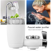 White Faucet Filter Washable Tap Adapter Water Purifier Household Faucets Tap Water Filter