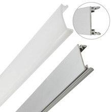 10pcs 1m led strip aluminum profile for 5050 5630 led rigid bar light led bar housing aluminum channel with cover end cap clips