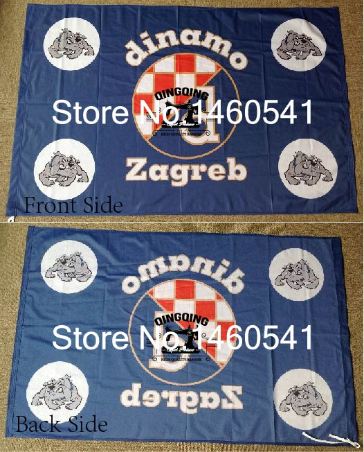 Us 78 Gnk Dinamo Zagreb Flag 3ft X 5ft Polyester Croatian Football Club Size No4 144 96cm Qingqing Flag In Flags Banners Accessories From Home