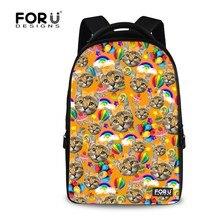 Марка женщины 3D животных кошка рюкзак детей школьного рюкзаки 15.6 дюймов подросток девушки bookbag ноутбук bagpack mochila feminina