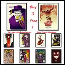 DARK KNIGHT BATMAN Anime Coated Paper poster wall art painting poster home decor Frameless цена 2017