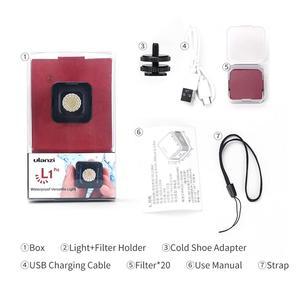 Image 5 - Ulanzi L1 Pro Impermeabile Dimmer HA CONDOTTO LA Luce Video 5600K w 20 Filtri di Colore Ha Condotto La Lampada per Drone DJI Osmo tasca Gopro 7 Fotocamere REFLEX Digitali