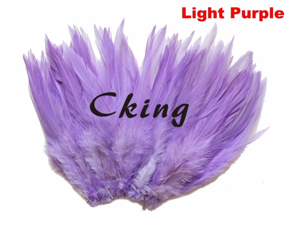 1KGS Light Purple Rooster Feather Strung 5 6 Pheasant Chicken Craft Plume for Costume Hat Party Mask Decoration Free Shipping