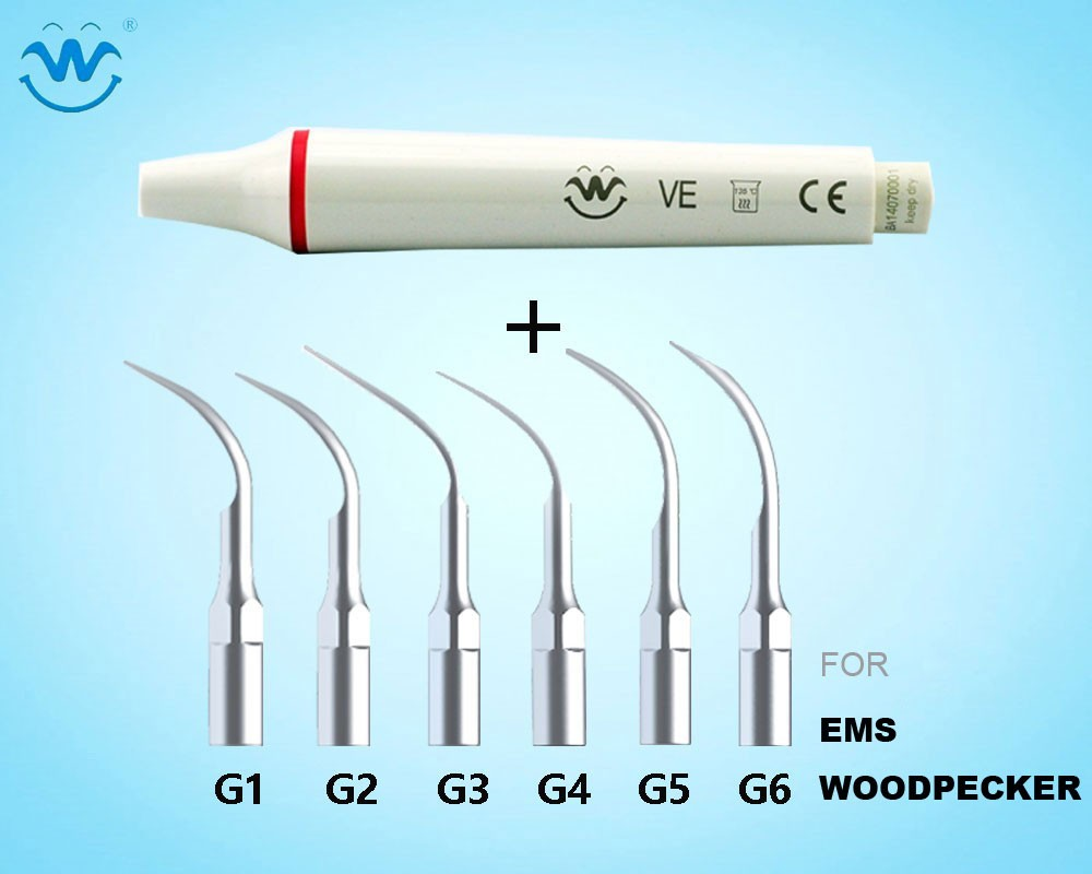Teeth whitening Ultrasonic Dental Scaler Handpiece And Tips Compatible With EMS/ WOODPECKER ultrasonic dental scaler handpiece with tips and torque wrench compatible with ems woodpecker teeth whitening dental equipment