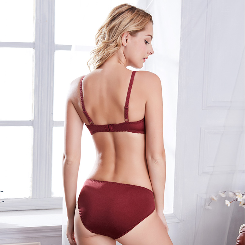 Sexy Transparent Lingerie Set Unlined Ultra thin bra and panty set with wires Butterfly embroidery Push up underwear women 95D Women Women's Clothings Women's Lingeries cb5feb1b7314637725a2e7: Brown Burgundy Transparent