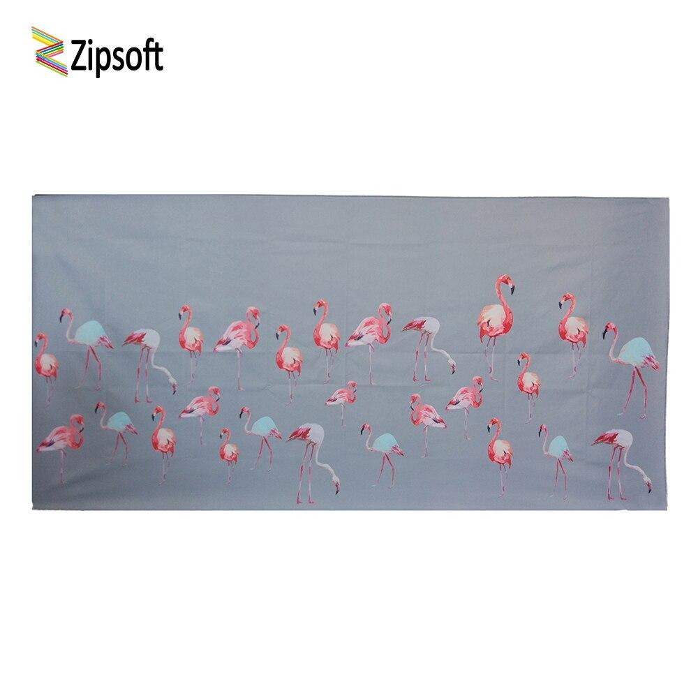 Zipsoft Strandlaken Kleine Grey Flamingo Microfiber Handdoek 75*150 Cm Gedrukt Reizen Snel Droog Sport Zwemmen Bad Camping Door Wetenschappelijk Proces