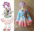 Anime The Touhou Project Satori Komeiji Cosplay Costume Halloween Uniform Shirt+Skirt+Eye Accessories Any Size