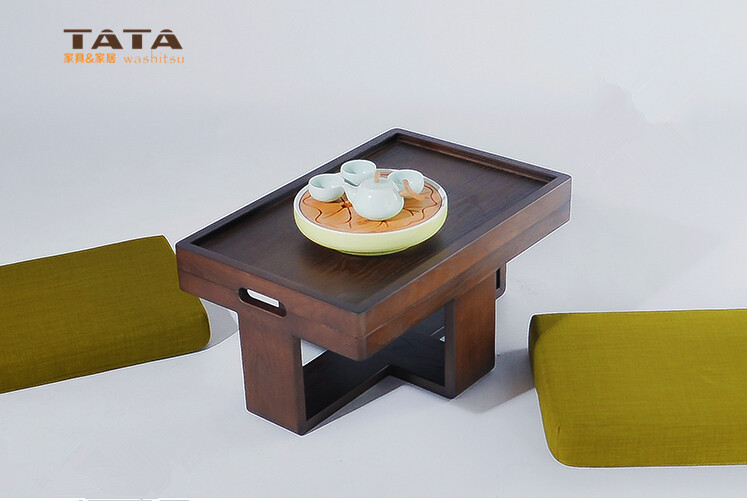 Modern Asian Style Tea Table Furniture Design Low Coffee Gongfu Tea Tray Table in Walnut Finish Japanese/Chinese Wooden Table solid pine wood folding round table 90cm natural cherry finish living room furniture modern large low round coffee table design