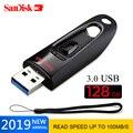 Флеш-накопитель SanDisk USB 3 0  256 ГБ  128 ГБ  64 ГБ  32 ГБ  16 ГБ  флешка  флешка 100 МБ/с./с  usb-диск для ПК