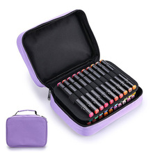 40 Slots Large Capacity Handy Marker Case Zippered Art Marker Lipstick Organizer For Student Art Office Supplies