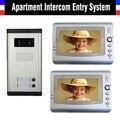 2016 New Apartment Intercom System Video Doorbell Video Intercom System For Apartments 2 Units Apartment Video Door Phone