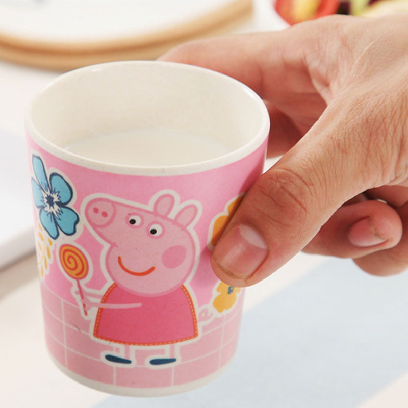 Yilala 5 Pieces/Set Plastic Rice Dish Dinnerware Hand painted Cartoon Peppa Pig Bowl Cup Fork Spoon Plate Tableware Set for Kids-in Dishes u0026 Plates from ... & Yilala 5 Pieces/Set Plastic Rice Dish Dinnerware Hand painted ...