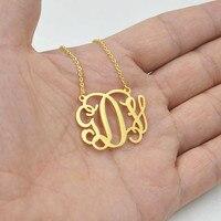 Niestandardowe Nazwa Naszyjnik Różowe Złoto Abcde F G H I J K L M N O P P R S T U V W Xyz List Biżuteria W Stylu Vintage Kobiety Mężczyźni Chain Choker