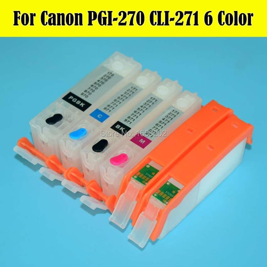 smart chip for Canon PGI-270 CLI-271 Pixma Printer MG7720 6 PK Ink Cartridges