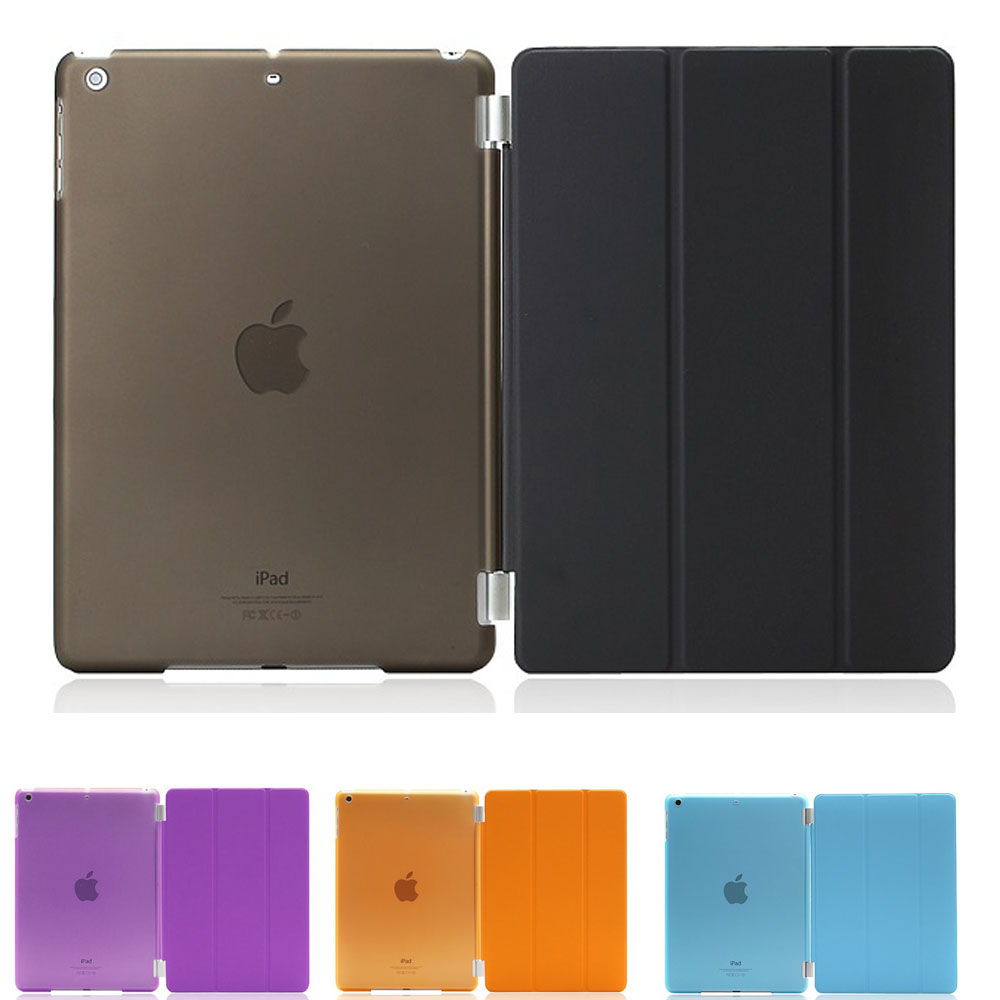 PU Leather Slim Magnetic Front Smart Cover Skin + Hard PC Back Case For ipad mini 1 2 3 retina nice case for apple ipad pro 10 5 cover transparent slim thin pc hard back 3 fold protective magnetic smart pu leather case