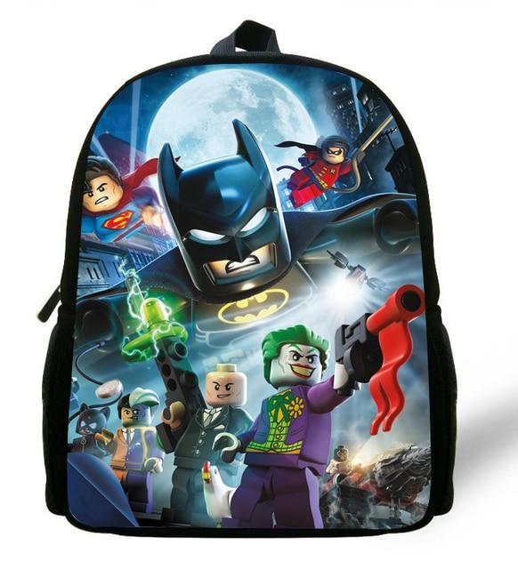 12 Dos Sac Mochila Batman Enfants pouces Garçons À D'école Sacs OTOZq