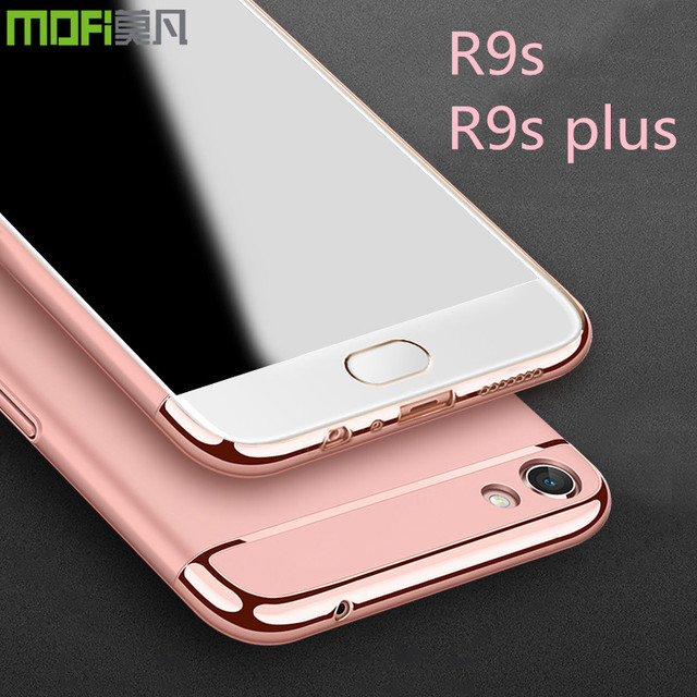 aff9f090e87 OPPO R9S case cover oppo r9s plus case luxury back case red rose gold oppo  r9s plus cover 3 in 1 joint MOFi capa coque funda
