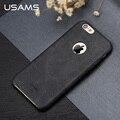Para o iphone 6 6 s Plus caso capa de couro de luxo USAMS série Bob 4.7 polegada 5.5 polegada de capa iphone6