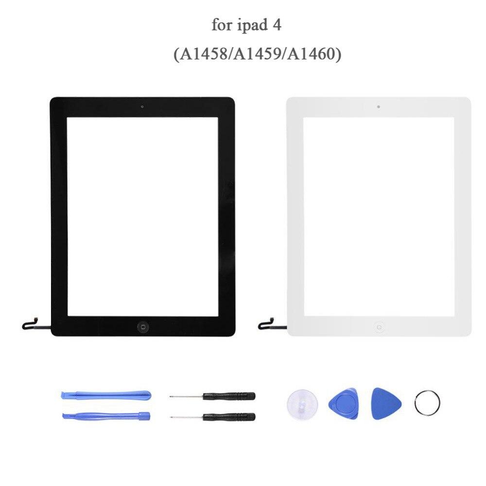 Écran tactile pour IPad 4 Affichage En Verre Digitizer Remplacement Fixer Fendu pour IPad 4 A1458/A1459/A1460